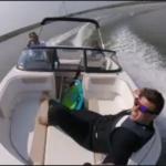 Keihard varen in Enkhuizen met een speedboot